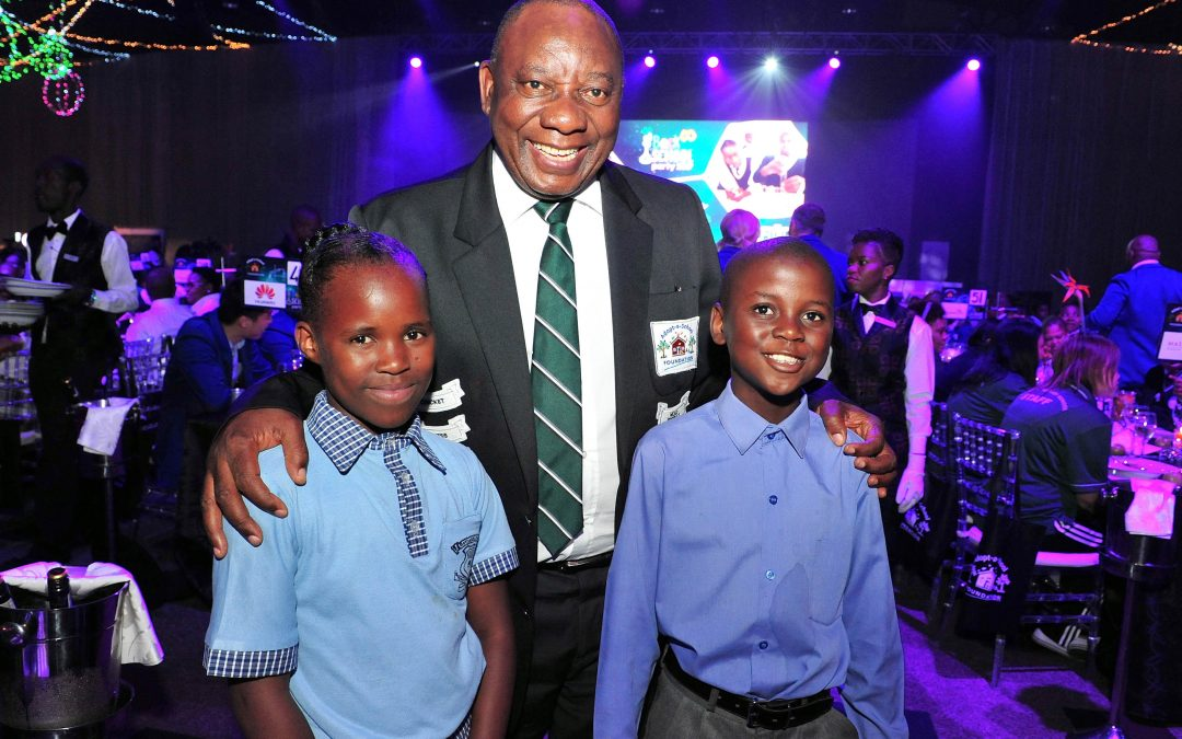 Cyril Ramaphosa goes back to school to raise funds for Adopt-a-School Foundation