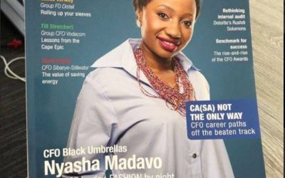 Black Umbrellas CFO, Nyasha Madavo, graces cover of CFO Magazine