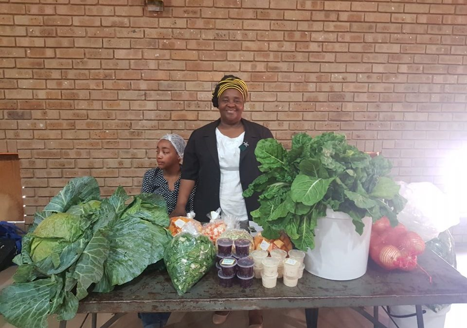 Maribe Agricultural display their fresh produce at the Agri-Expo Workshop