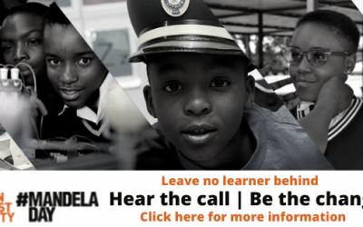 Hear the call, be the change, support learners during Covid-19 for Mandela Day