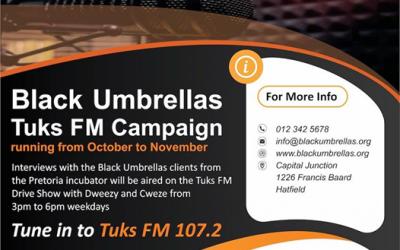 Black Umbrellas TUKS FM Campaign